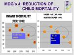 mdg s 4 reduction of child mortality