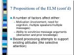 7 propositions of the elm cont d