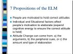 7 propositions of the elm
