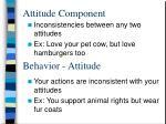 attitude component
