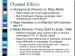 channel effects
