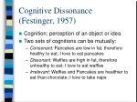 cognitive dissonance festinger 1957