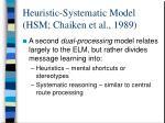heuristic systematic model hsm chaiken et al 1989