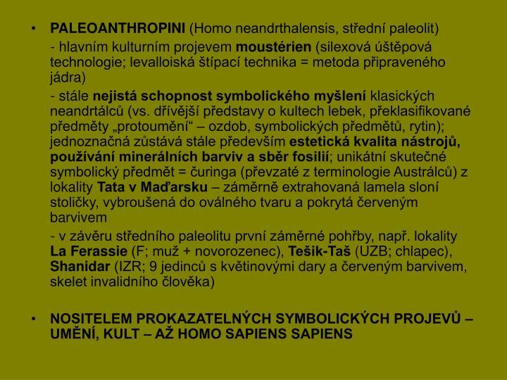 PALEOANTHROPINI