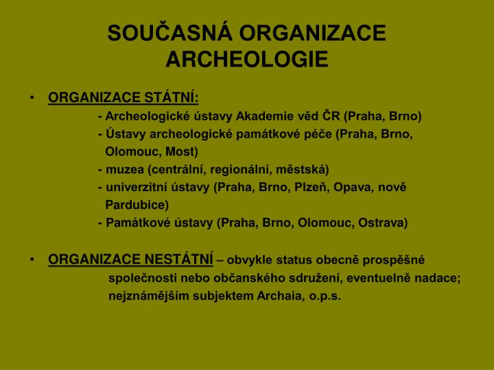 Sou asn organizace archeologie