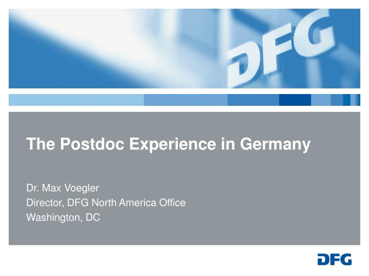 the postdoc experience in germany n.