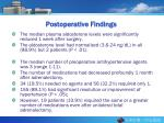 postoperative findings