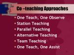 co teaching approaches