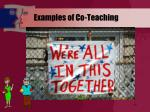 examples of co teaching
