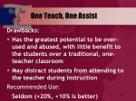 one teach one assist2