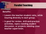 parallel teaching1