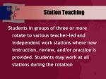 station teaching