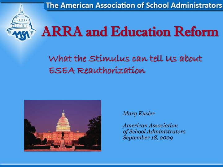 arra and education reform n.