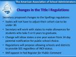 changes in the title i regulations