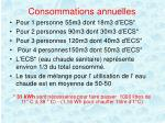 consommations annuelles