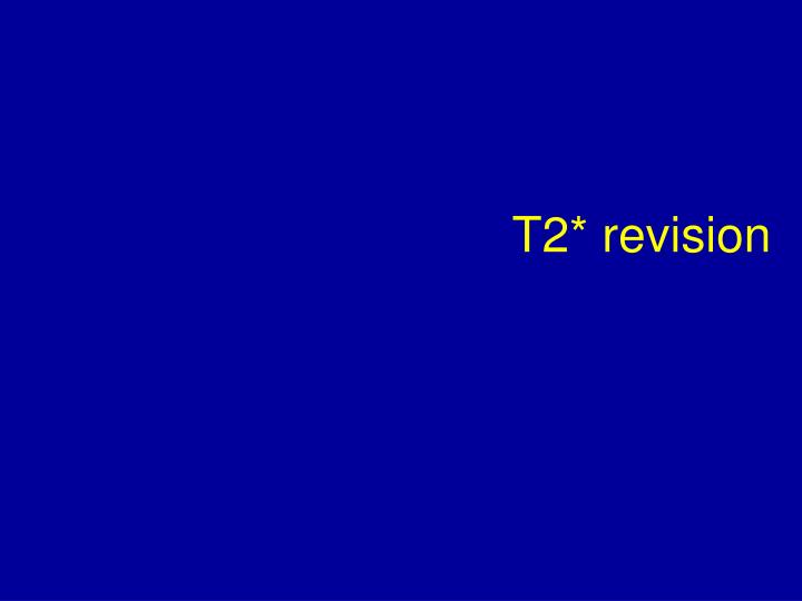 t2 revision n.