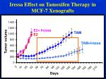 iressa effect on tamoxifen therapy in mcf 7 xenografts