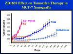zd1839 effect on tamoxifen therapy in mcf 7 xenografts