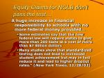 equity claims for nclb don t pass the test