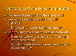 options and choices for parents