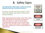 b safety signs