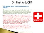 d first aid cpr