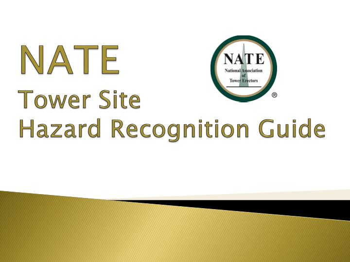 nate tower site hazard recognition guide n.