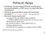 pdf4lhc recipe