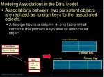 modeling associations in the data model