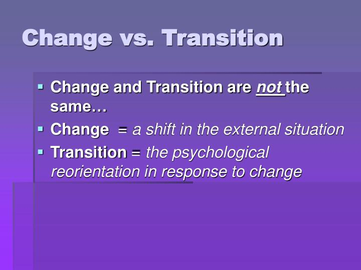 change vs transition n.
