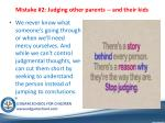 mistake 2 judging other parents and their kids