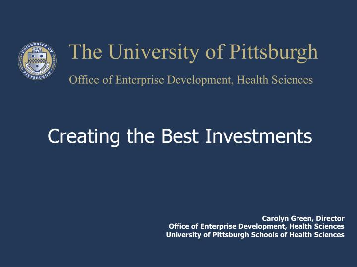 the university of pittsburgh n.