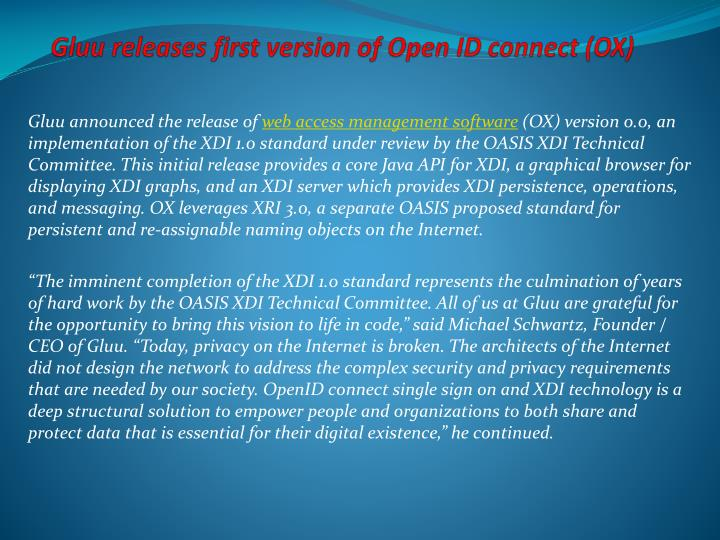 gluu releases first version of open id connect ox n.