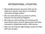 international litigation