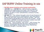sap bi bw online training in usa