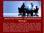 jason paul charvat certified business manager