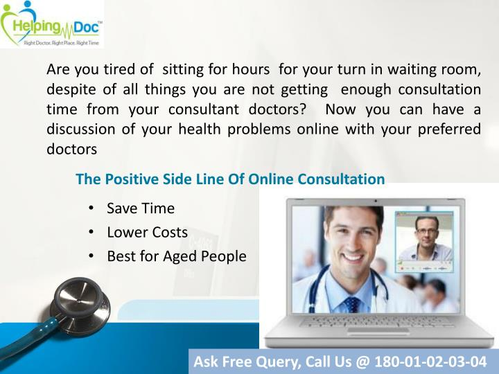 The Positive Side Line Of Online Consultation