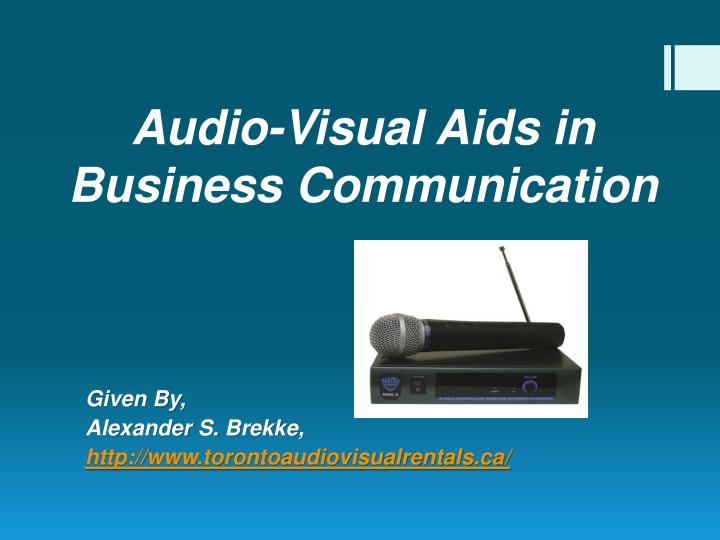 audio visual aids in business communication n.