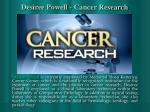 desiree powell cancer research
