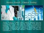 desiree powell clinical testing