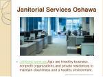 janitorial services oshawa