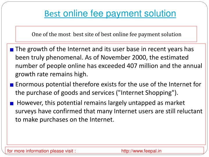 best online fee payment solution n.