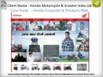 client name honda motorcycle scooter india ltd case study honda corporate products web