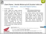 client name honda motorcycle scooter india ltd case study secured digital gallery