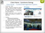 client name sumitomo demag case study content management system
