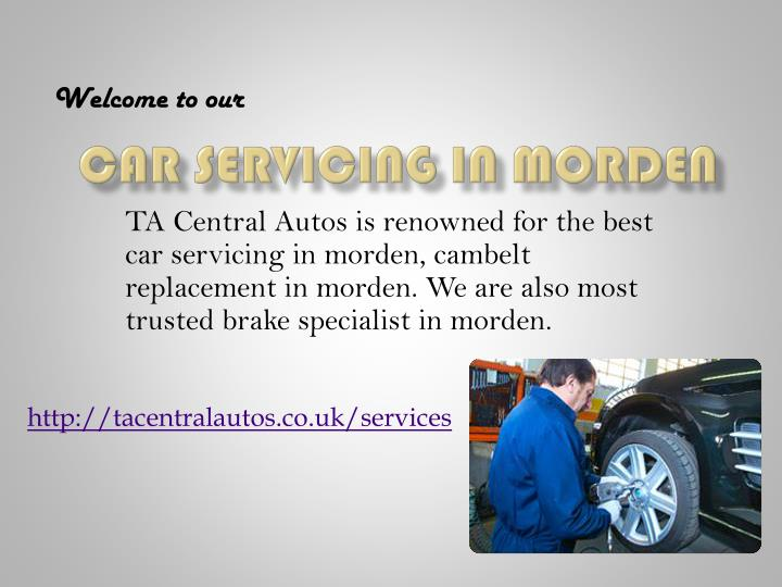 car servicing in morden n.