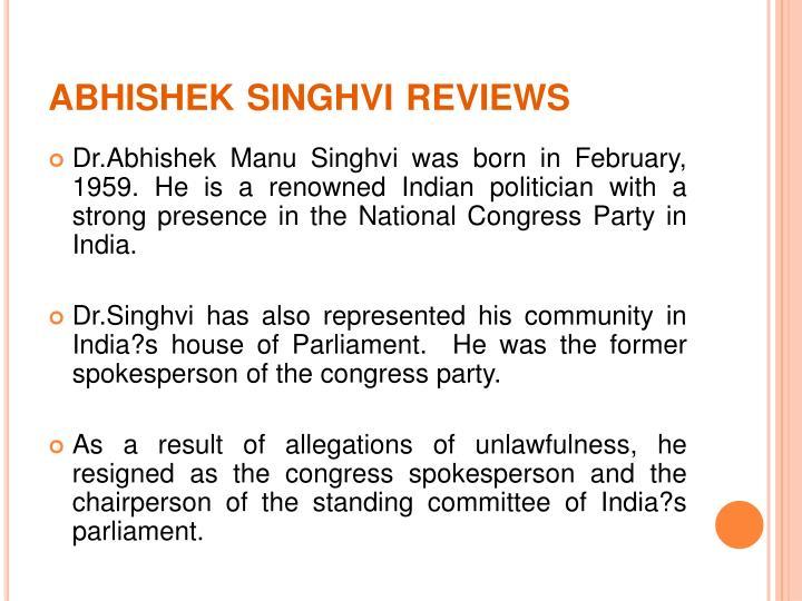 Abhishek singhvi reviews1