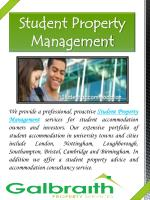 student property management