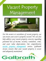vacant property management