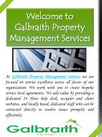 welcome to galbraith property management services